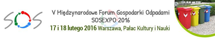 V Mi�dzynarodowe Forum Gospodarki Odpadami SOSEXPO 2016